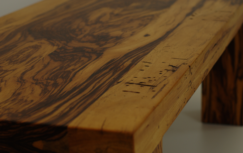 Couchtisch Zebrano massiv Massivholztisch für Couch Tisch